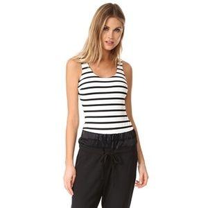David Lerner Black & White Stripe Bodysuit XS